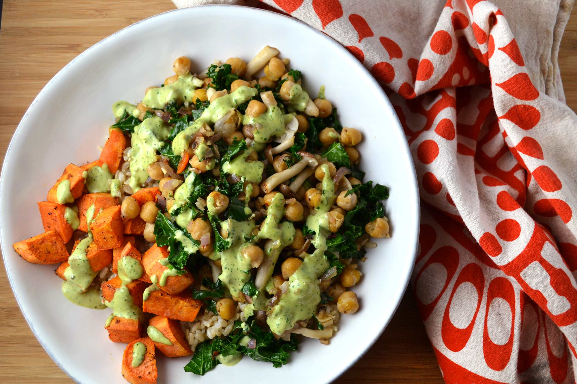 Sweet Potato Bowl with Herb Tahini