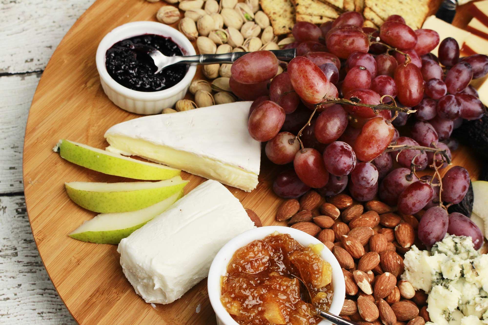 Farm Fresh Preserves, Cheese and Nut Plate