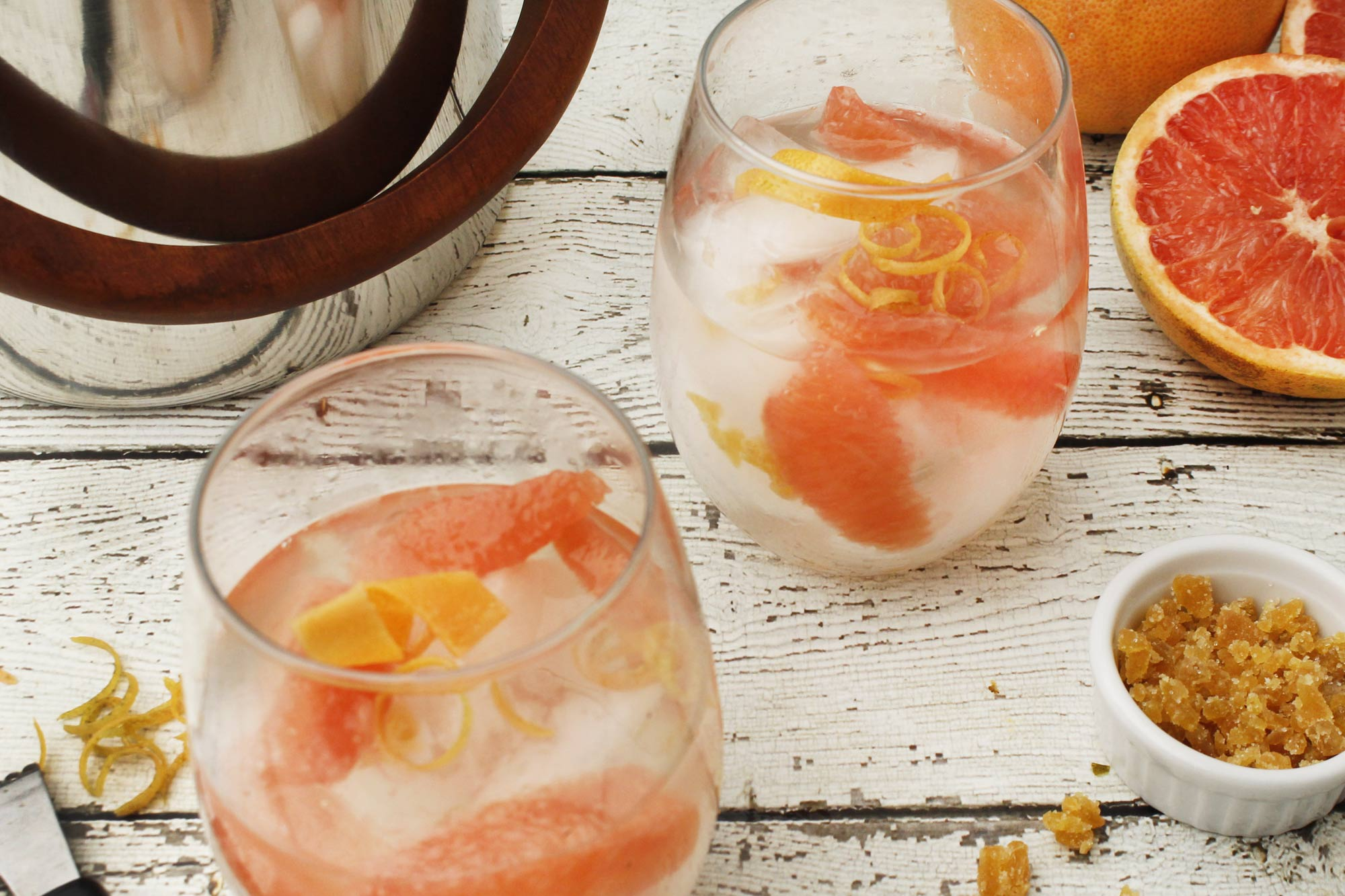 Grapefruit and Candied Ginger Mule