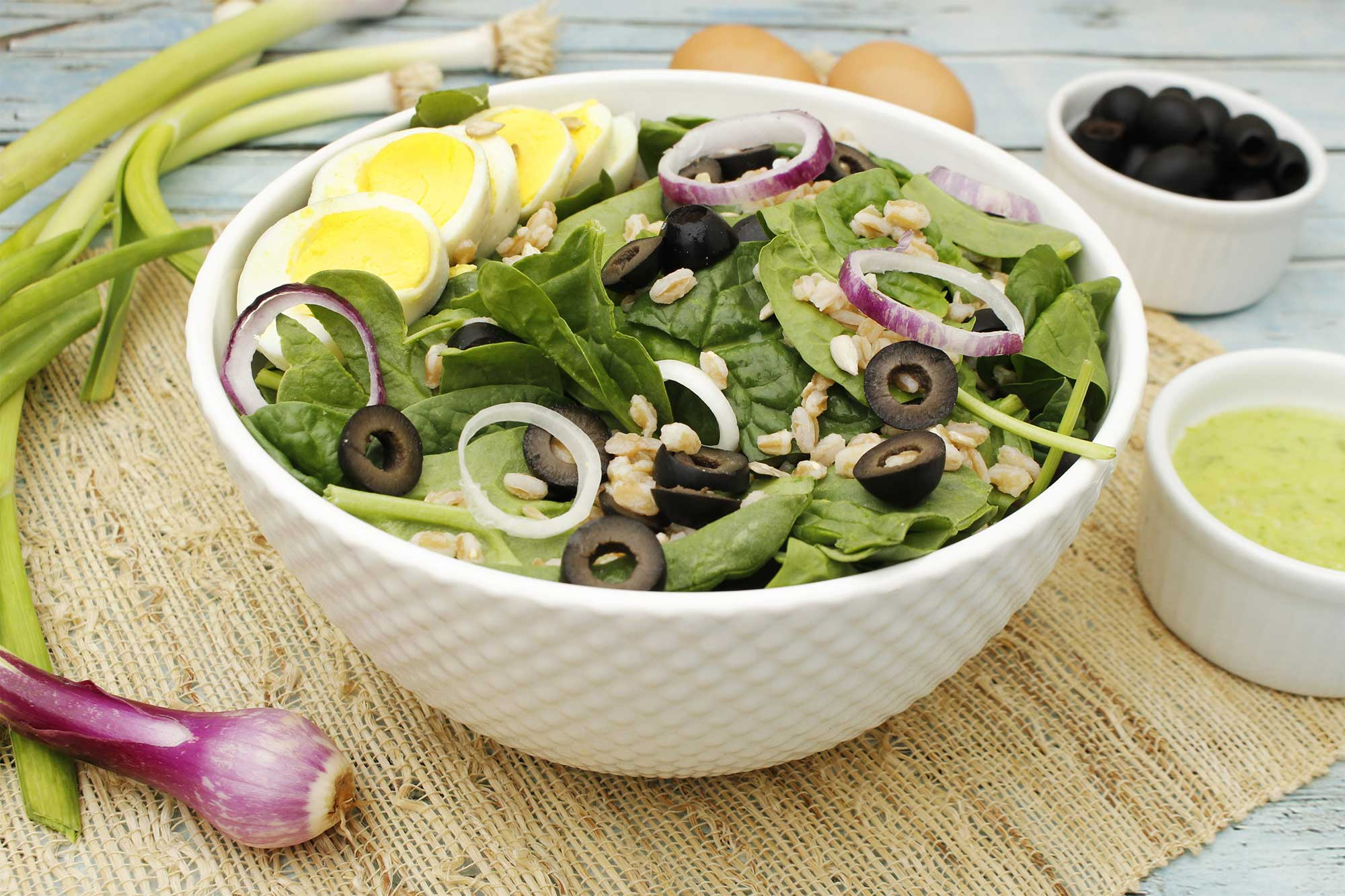 Spring Salad with Green Garlic Dressing