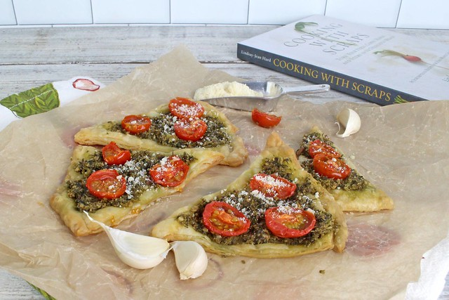Carrot Top Pesto Tartlets