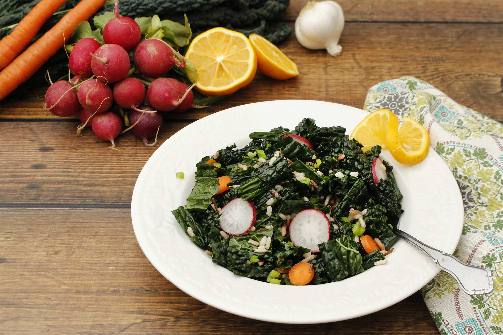 Wild Rice and Lacinato Kale Salad