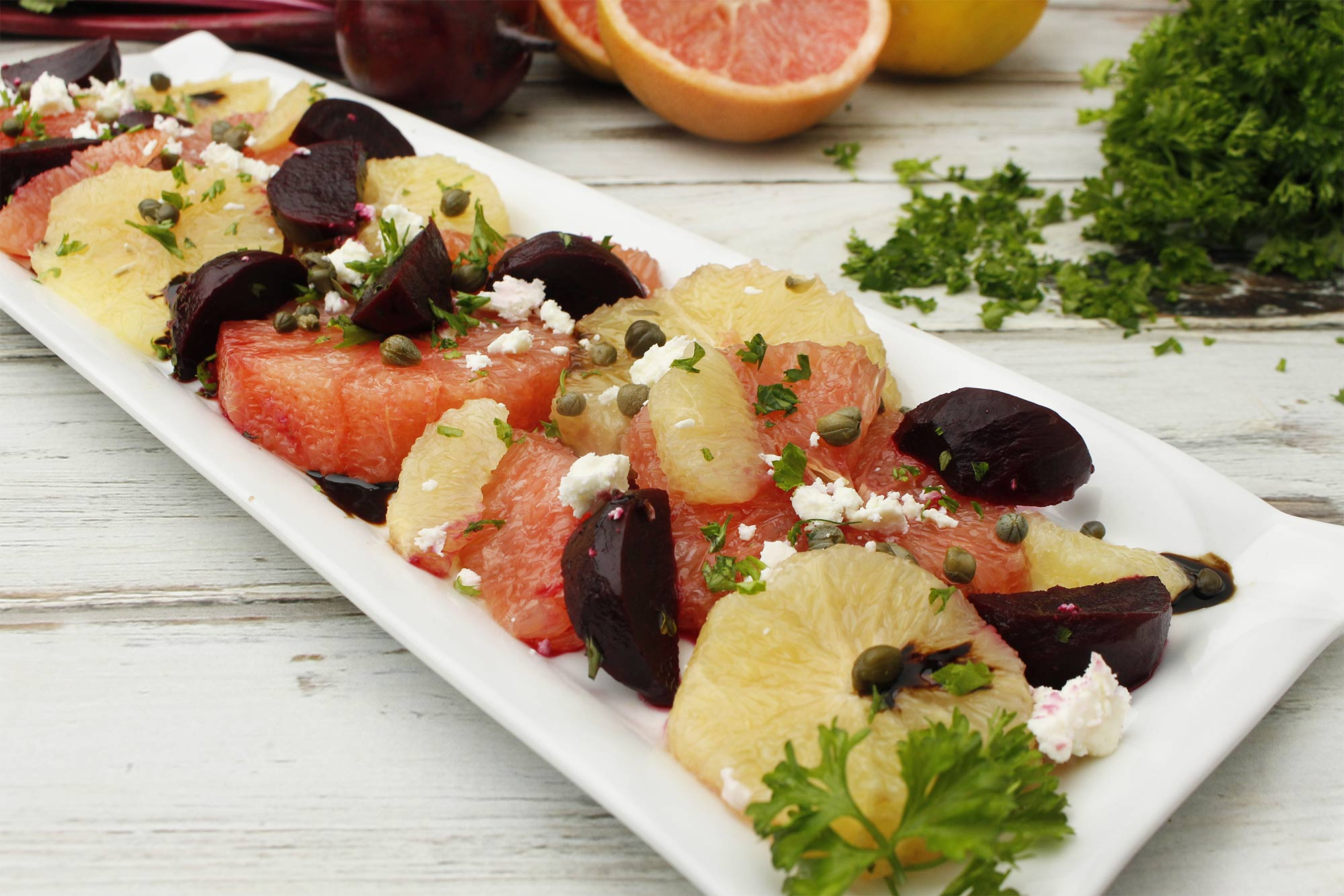 Mixed Grapefruit and Roasted Beet Salad