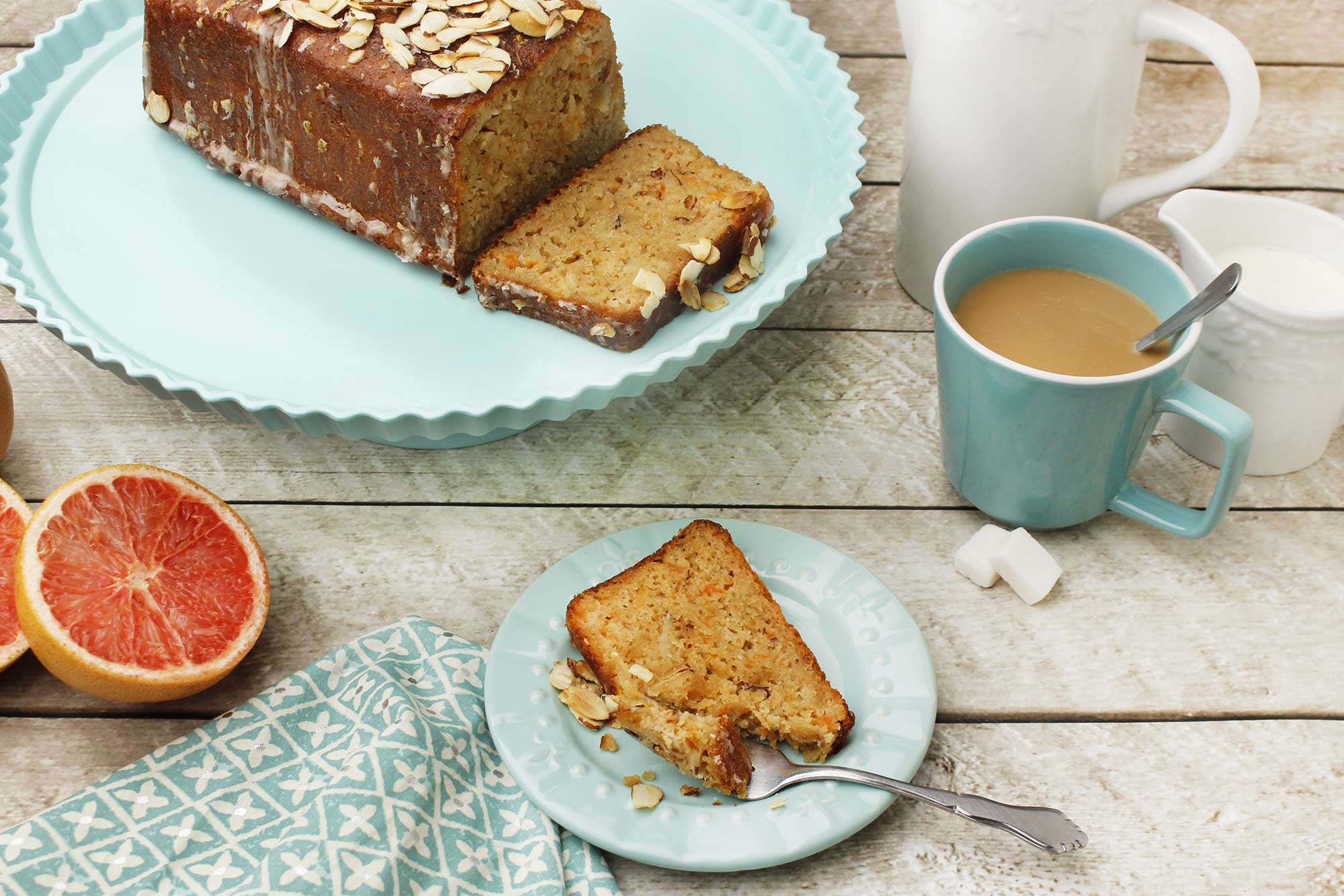 Grapefruit and Ginger Tea Bread