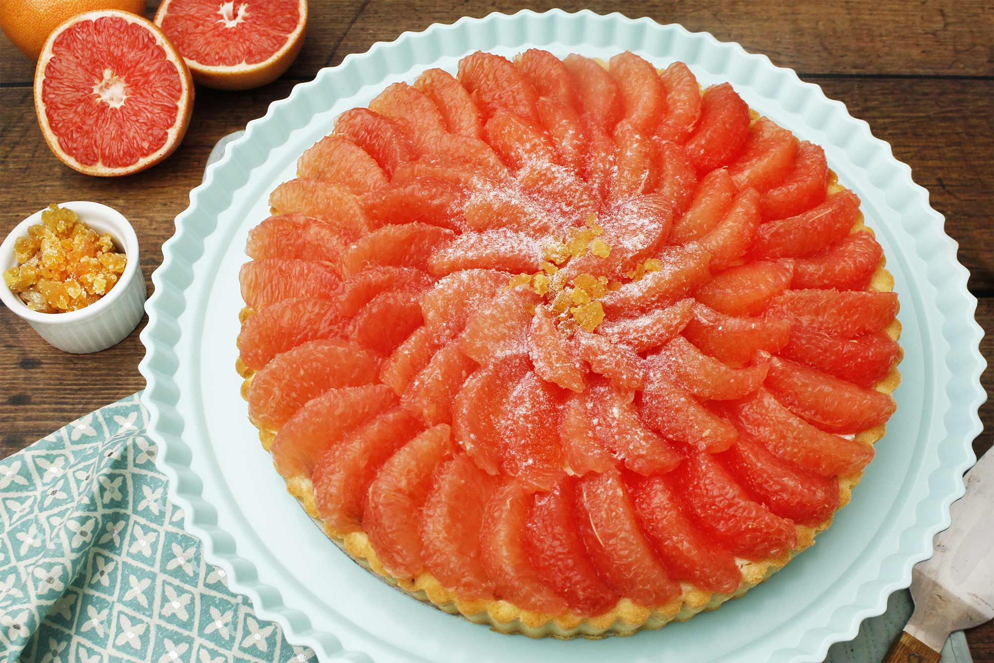 Grapefruit and Ginger Tart